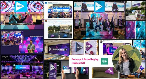 InfoComm 2019 win the Signage/Decor Category at the IAEE Art of the Show Competition - again!