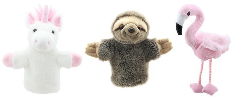 the-puppet-company-carpets-unicorn-sloth-flamingo