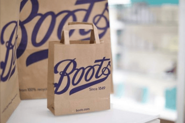 boots paper bag