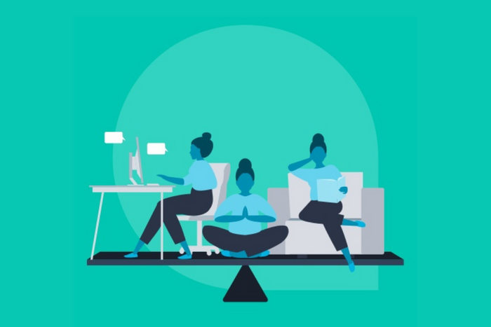 44% of staff feel their work-life balance is sustainable