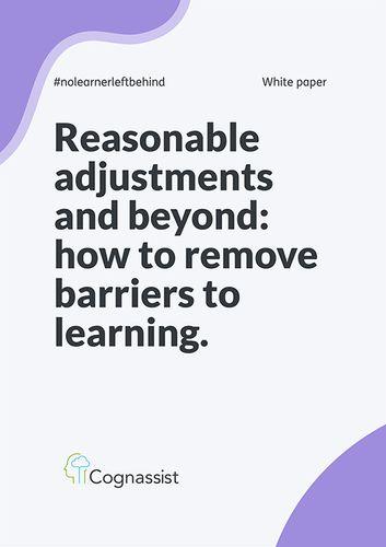 Reasonable adjustments and beyond whitepaper
