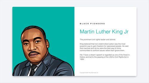 Black Pioneers slides for your Digital Signage