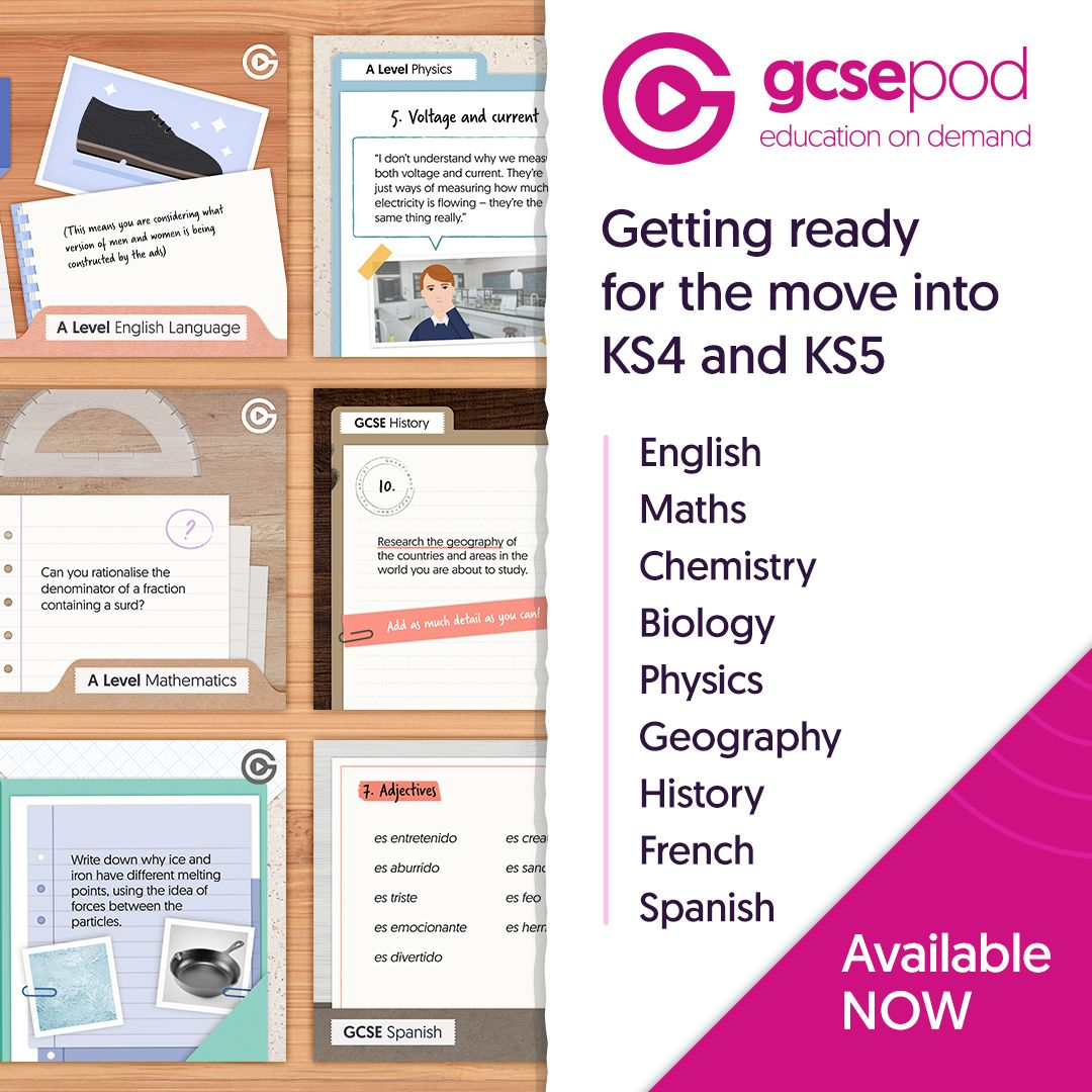 'Getting ready for... KS4 & 5' Transition materials in multiple subjects