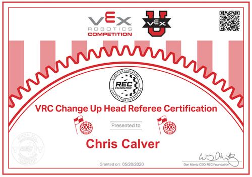 VEX Certifications