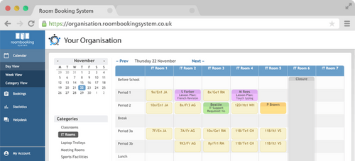 SchoolCloud Room Booking