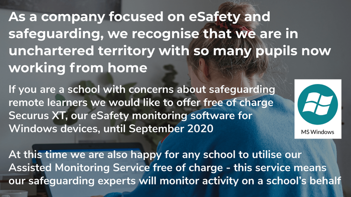 Securus offer eSafety Monitoring Solution for Remote Learners free of charge during crisis