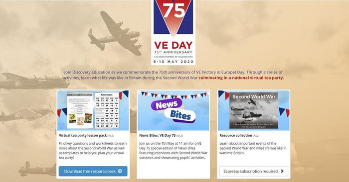 VE day 75: Virtual tea party lesson pack