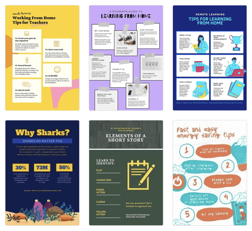 Virtual Classroom Templates and Activities