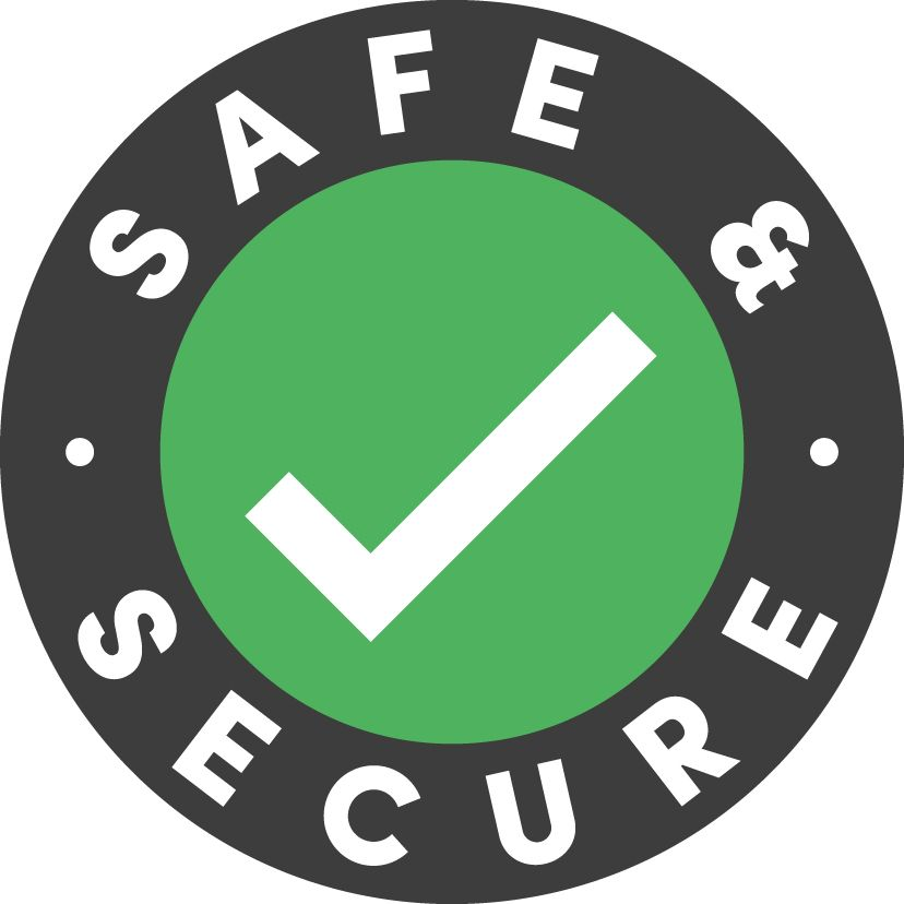 safe and secure stamp