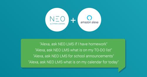 NEO LMS now integrates with Amazon Alexa