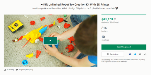X-KIT launched on Kickstarter with over 600% goal of fund