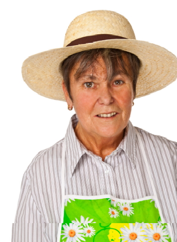middle age white woman in apron