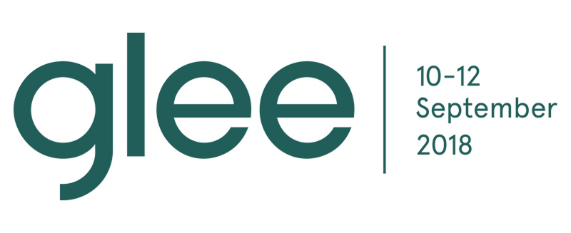 glee logo green with dates and location