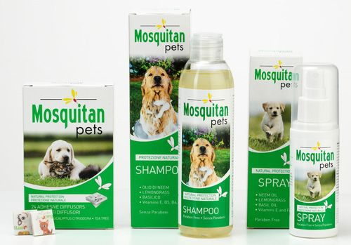 Mosquitan Pets Patches, Shampoo & Spray  The safe anti-mosquito solution for your pet