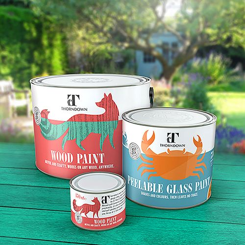 Thorndown Wood Paint and Peelable Glass Paint Brochure