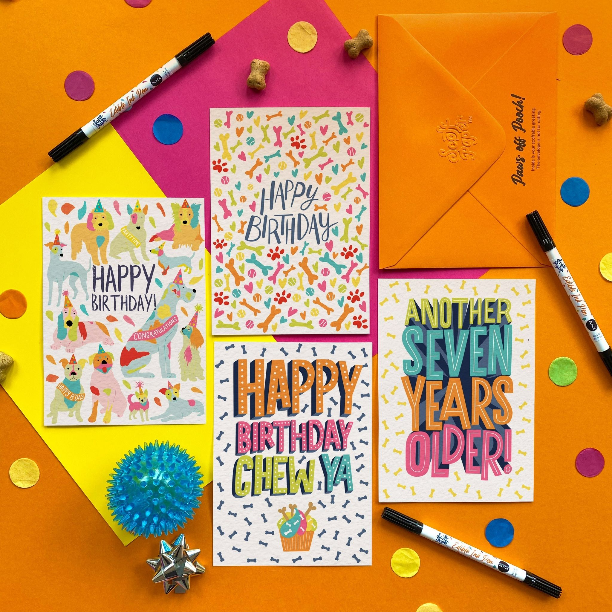 Scoff Paper Edible Greeting Cards for Dogs