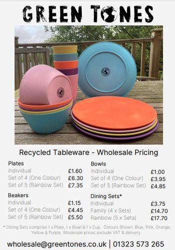 Green Tones Glee Price Sheet - Recycled Homeware