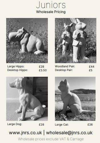 Eco Resin Statues Price Sheet (Juniors by Green Tones)