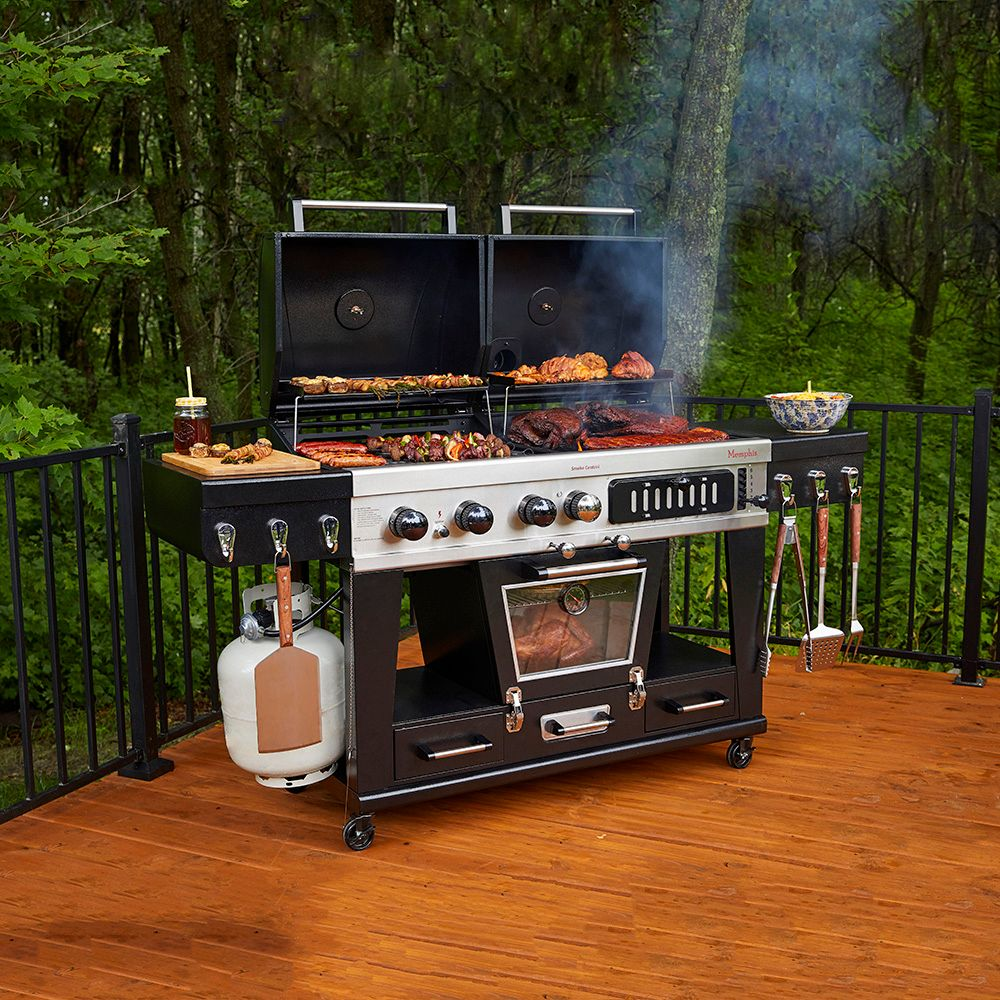 Pit Boss Memphis Ultimate Combo Grill (Gas, Charcoal and Electric Wood Smoker)