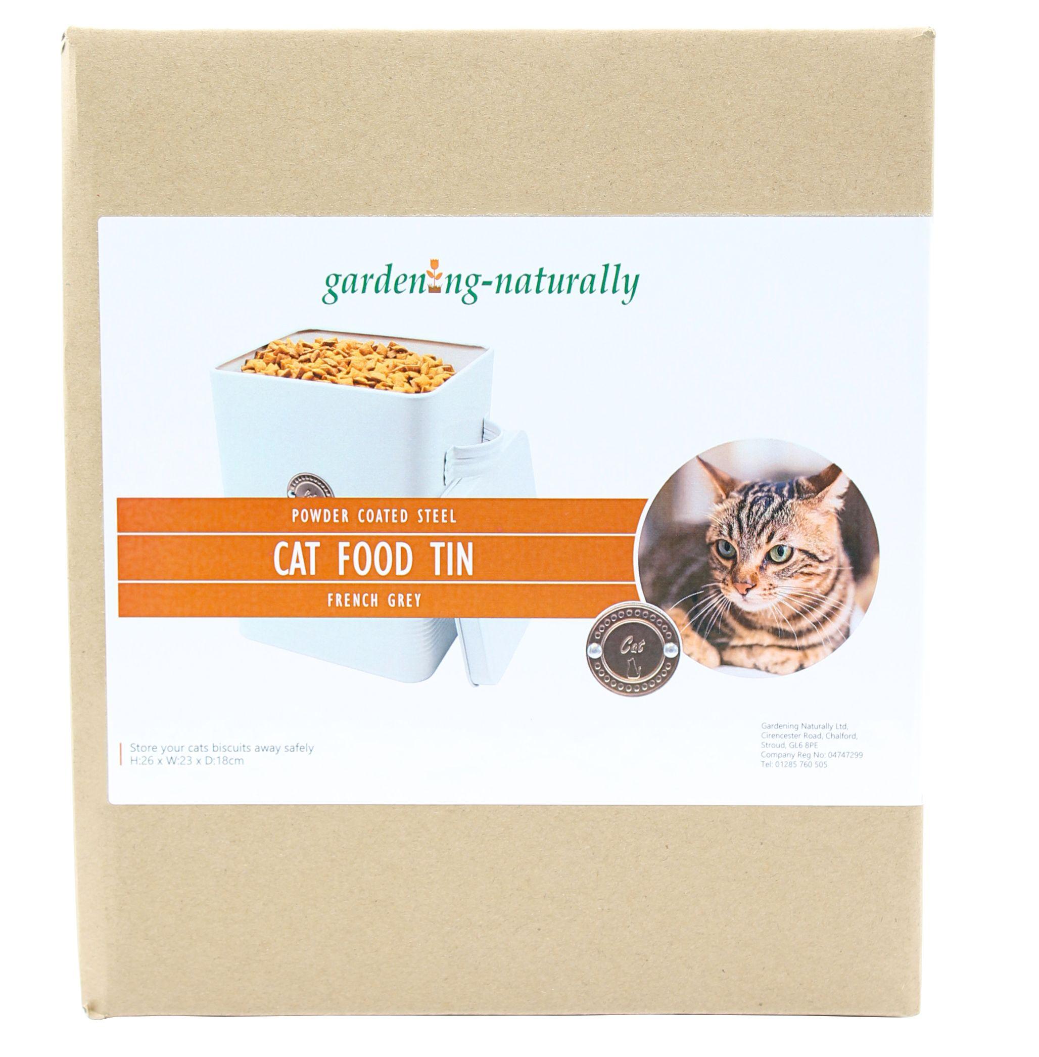 Cat Food Tin (French Grey)