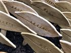 Handcrafted Stoneware Leaf Art Plant Labels/Markers
