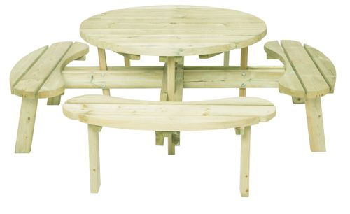 Round table without backrets