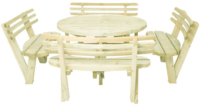 Round table with backrets