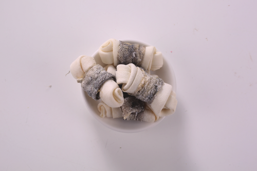 rawhide knot with fish