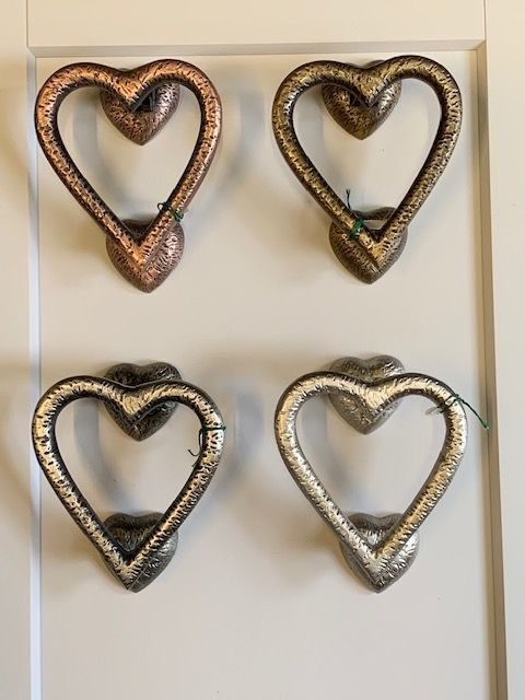 Hammered Heart Door Knockers
