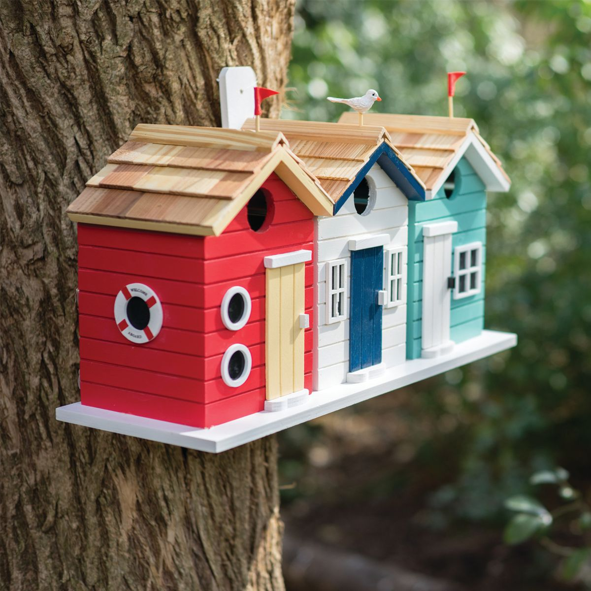Beach Hut Birdhouse Bird House