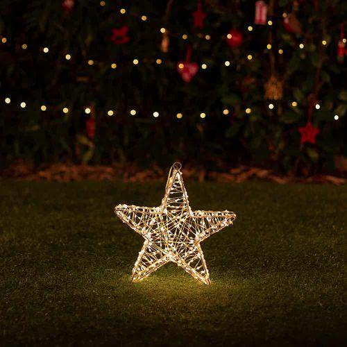 Lumify DualWhite USB Solar Christmas Lights - Small Star