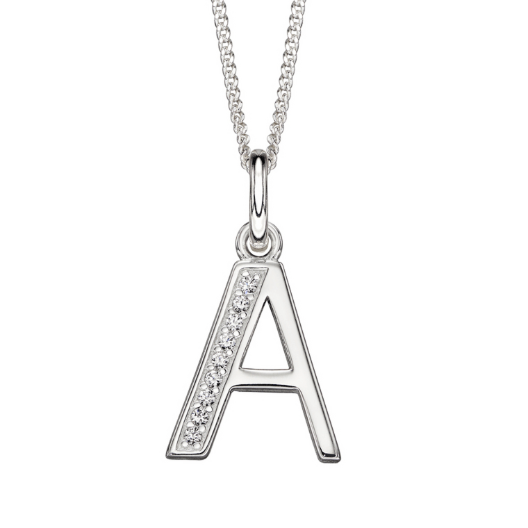 Letter A on necklace