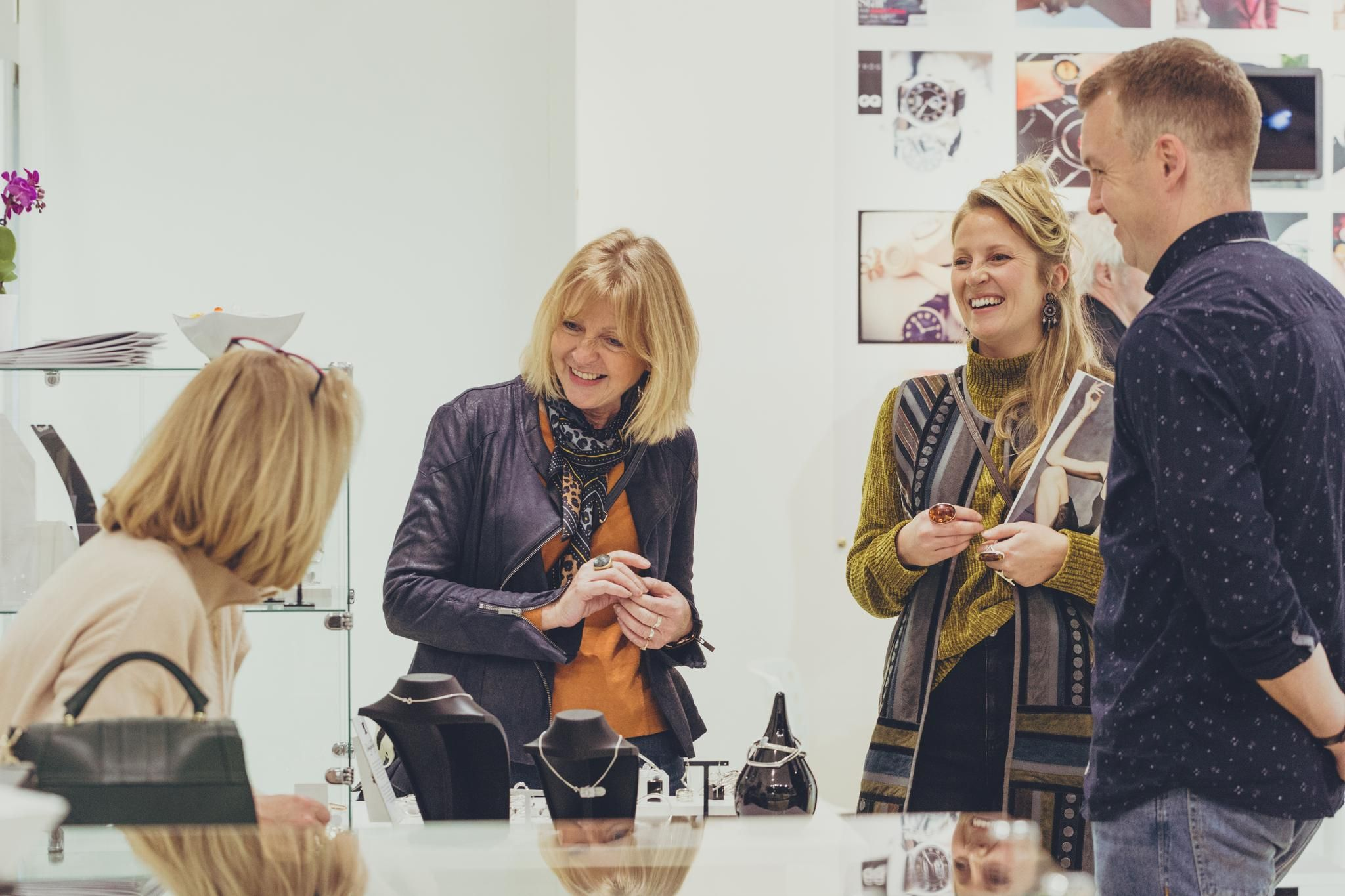 visitors and exhibitors at jewellery and watch