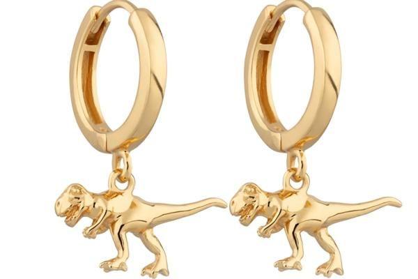 T-Rex Donosaur Hoop Earrings