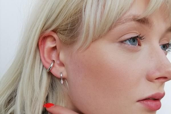 Opal Bullet Huggie Earrings