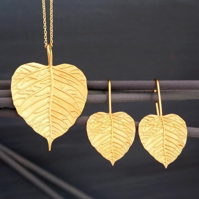 Yellow Gold-Plated Sterling Silver Pendants and Earrings