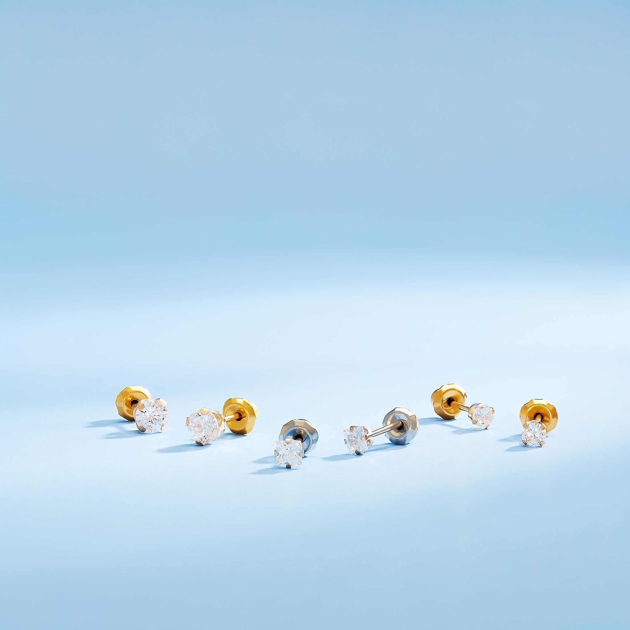 Inverness Diamond Piercing Earrings