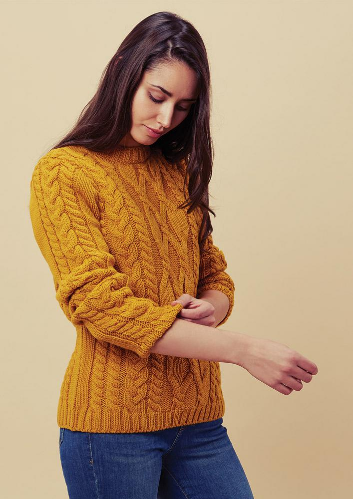 146R-MUSTARD-MODEL-WOMENS-CREW-NECK-MERINO-WOOL-JUMPER.JPG