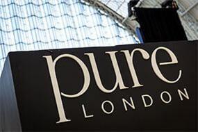 Pure London show logos