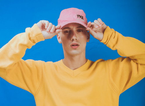 Modern Men's Fashion Blue Yellow Pink