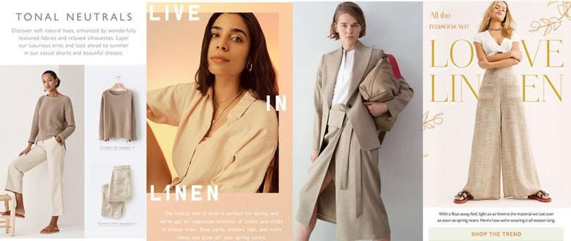 New Neutrals linen womenswear