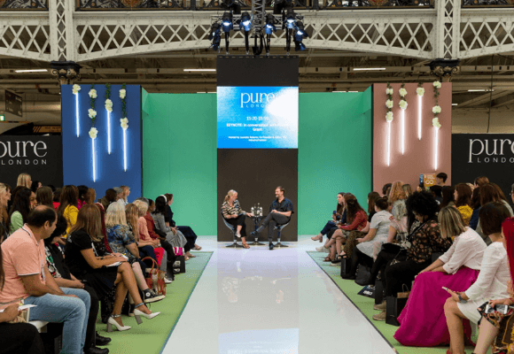 Patrick Grant and Lauretta Roberts on the Main Stage at Pure London