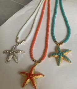 Loverocks summer jewels turqs, coral and ivory white