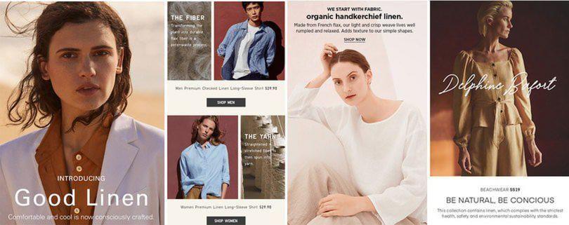 sustainability and craftsmanship linen womenswear