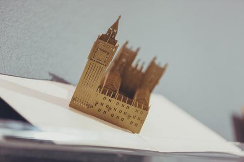 Wooden model of Big Ben