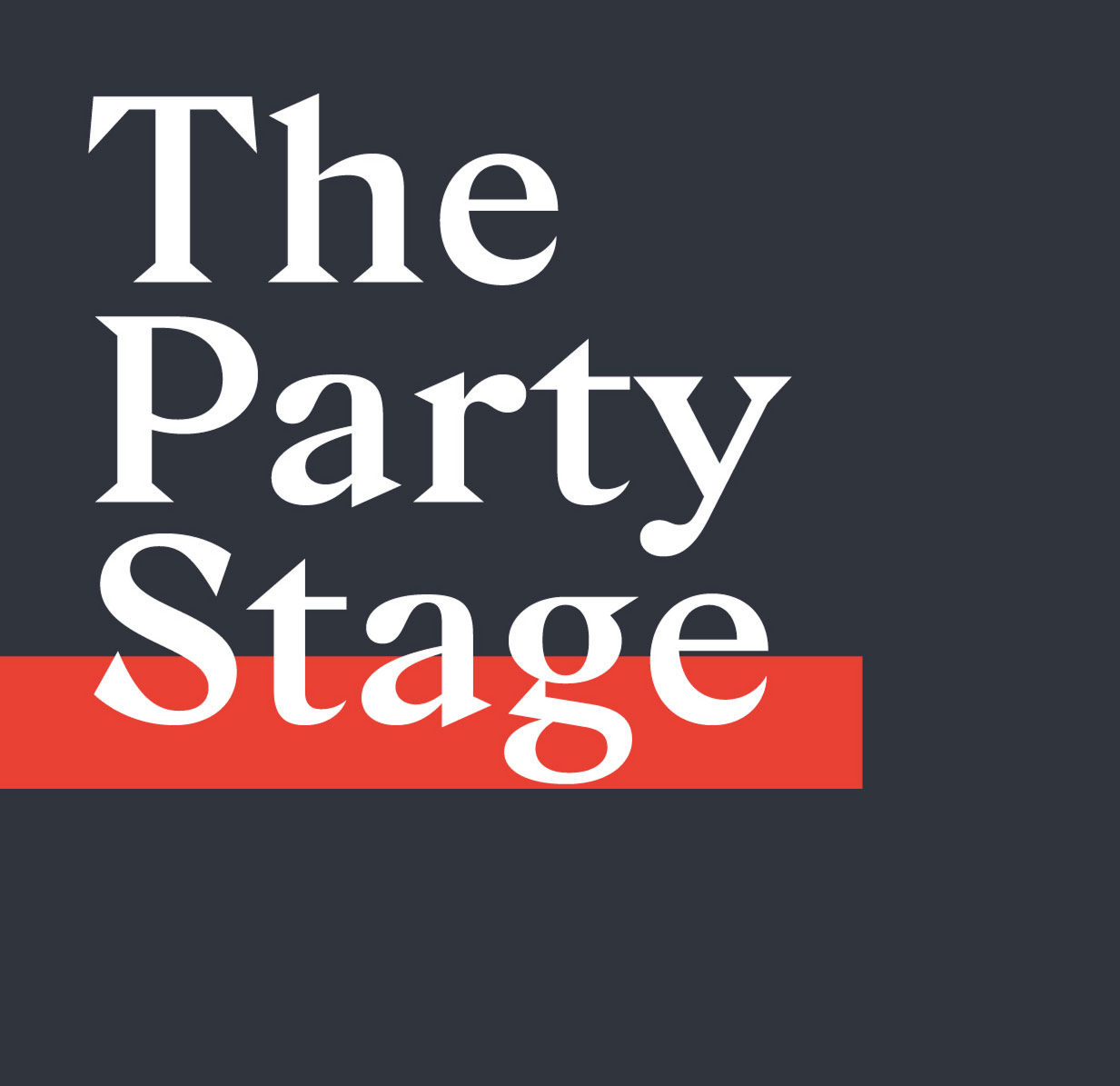 The party stage logo