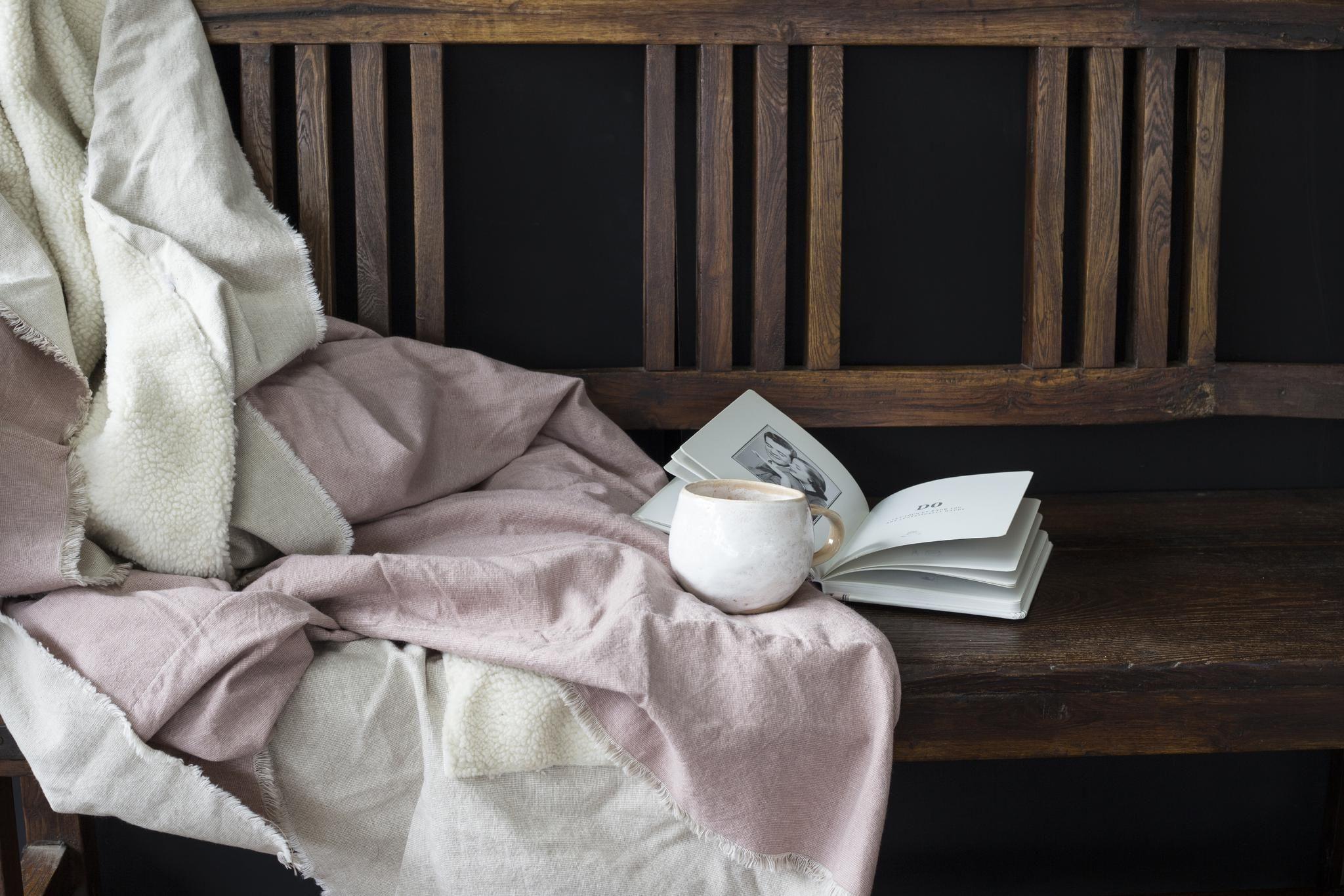 nice and cozy mug and soft furnishing