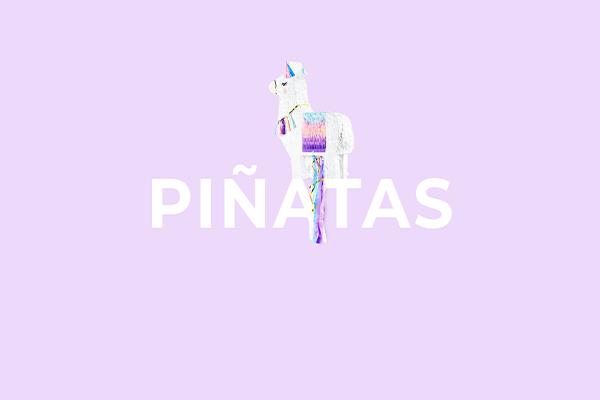 Piñatas from PartyDeco
