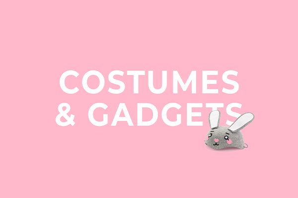 Costumes and gadgets from PartyDeco