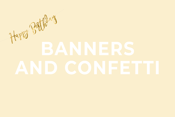 Banners and confetti - total party bestsellers from PartyDeco